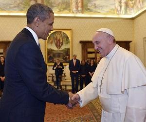 Descontração marca encontro entre o Papa e Obama