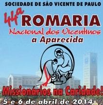 Romaria Nacional dos Vicentinos 2014 terá novidades na programação