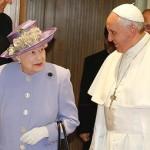 Papa Francisco recebe Rainha Elizabeth II da Inglaterra