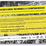 CBJP realizará Seminário Memória e Compromisso, em São Paulo
