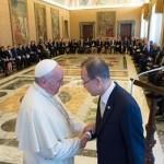 """Papa recebe Ban Ki-Moon e propõe """"mobilização ética mundial"""""""