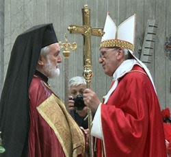Delegação ortodoxa na Festa de São Pedro e São Paulo