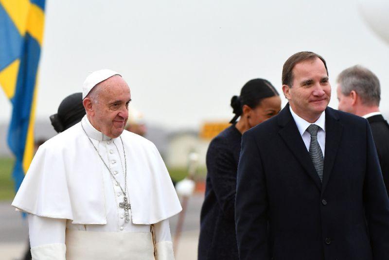 Suécia recebe o Papa Francisco com honras de Chefe de Estado