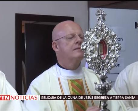 Relíquia da manjedoura de Jesus regressou à Terra Santa depois de 1.400 anos