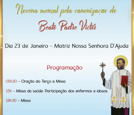 Novena mensal pela canonização do Beato Pe Victor