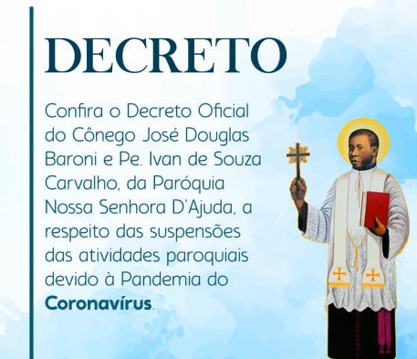 Decreto oficial à respeito do Coronavírus e atividades pastorais